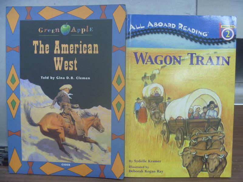【書寶二手書T1/語言學習_QAI】The American West_Wagon Train_2本合售