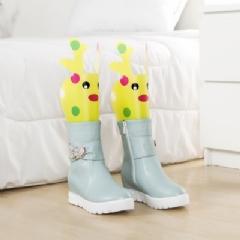 WallFree窩自在★卡通造型可調高度靴撐片彈力靴撐-黃色小鹿