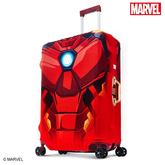 【加賀皮件】DESENO Marvel 漫威英雄造型 3D 防刮彈性 旅行箱保護套 行李箱套 鋼鐵人 S號(19-20吋) 0003