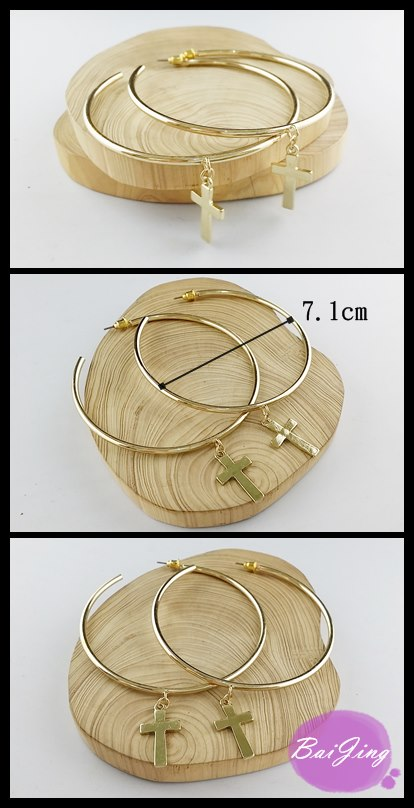 1684511【十字架大C款】耳環