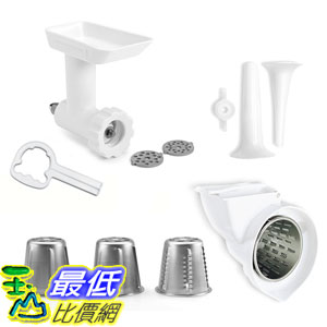 [美國直購]  KitchenAid 攪拌機 附件 KGSSA Stand Mixer Attachment Pack 2 with Food Grinder, Rotor Slicer  Shredder