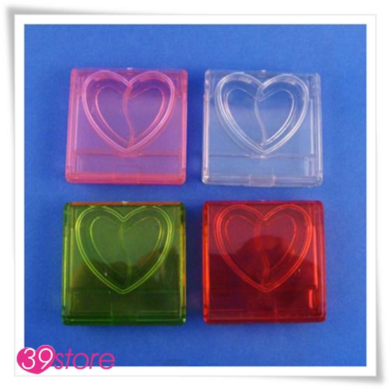 [ 39store ] 4克方形護唇膏盒 裡面為愛心造型 可入唇膏 唇蜜  藥膏 5個一組