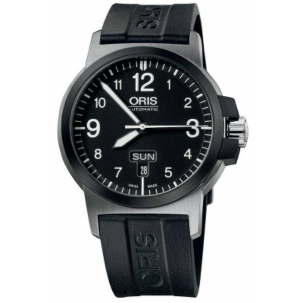 ORIS 豪利時0173576414364-0742205 BC3雙日曆機械腕錶/黑面42mm