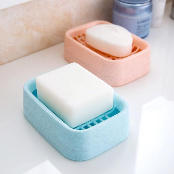 PS Mall 創意浴室雙層瀝水肥皂盒 時尚手工皂架香皂托【J993】