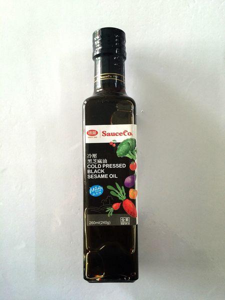 味榮 冷壓黑芝麻油 260ml  原價$230 特價$209