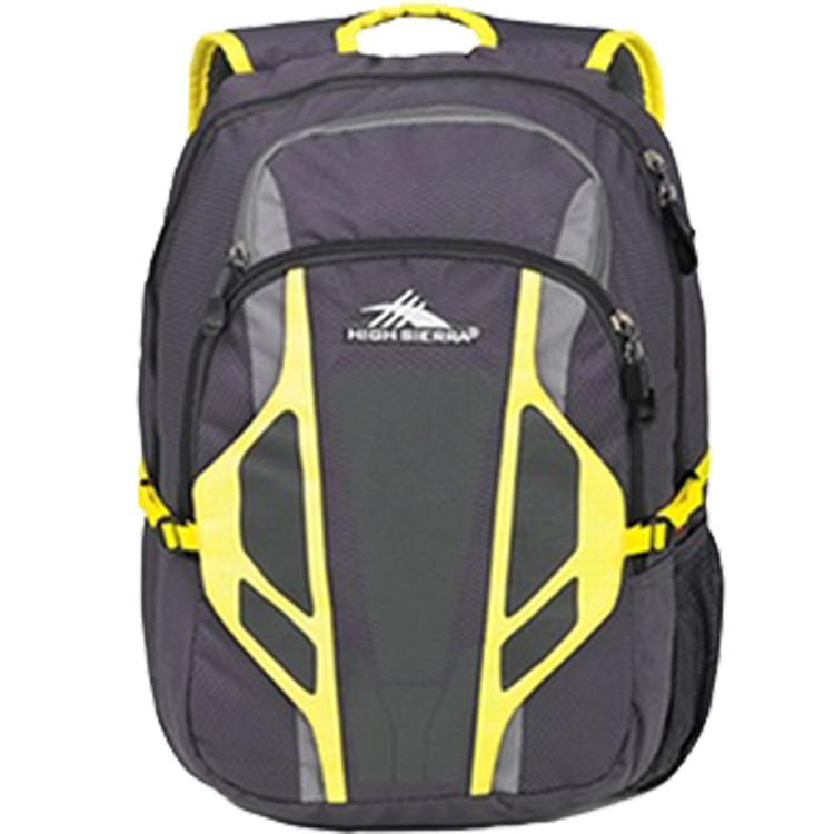 HIGH SIERRA美國戶外運動用Tackle 大容量後背包-新秀麗Samsonite副牌-深灰亮黃條紋-H04-A3061【禾雅】