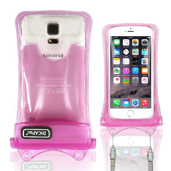DiCAPac WP-C1 高耐磨手機防水袋(5.1吋以下)-粉紅色