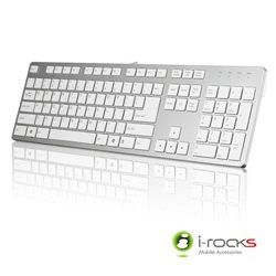 i-rocks艾芮克 IRK01 銀白色 巧克力超薄鏡面銀色鍵盤 [天天3C]