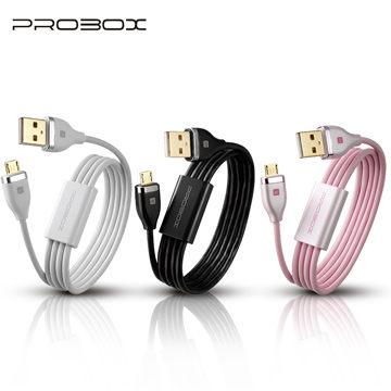PROBOX 鍍金接頭 1M microUSB 2.0 傳輸線 [天天3C]