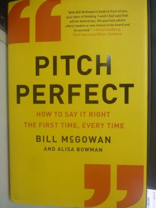 【書寶二手書T6/溝通_WDV】Pitch Perfect: How to Say It Right