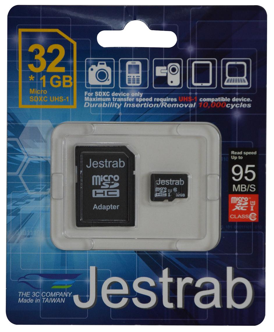 只要創見、新帝(Sandisk)、金士頓(Kinstone)半價,高C/P值,Jestrab Micro SD Card 32G*5(含轉接卡)