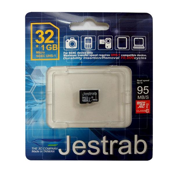 只要創見、新帝(Sandisk)、金士頓(Kinstone)半價,高C/P值,Jestrab Micro SD Card 32G*1(無轉接卡)