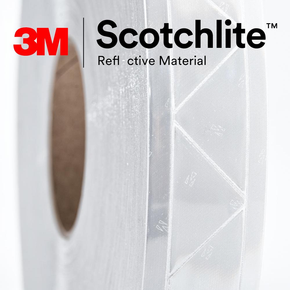 【safetylite安心生活館】《滿額免運.贈禮.加line折百》3M Scotchlite 6160R 反光晶格帶 反光條 反光材料 5CM寬【銀白色反光條、可水洗反光布】適用於衣料