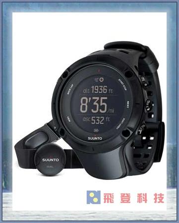【鐵人三項錶】 (含心跳帶感測器) SUUNTO Ambit3 Peak Black HR 鴻翔公司貨 開發票