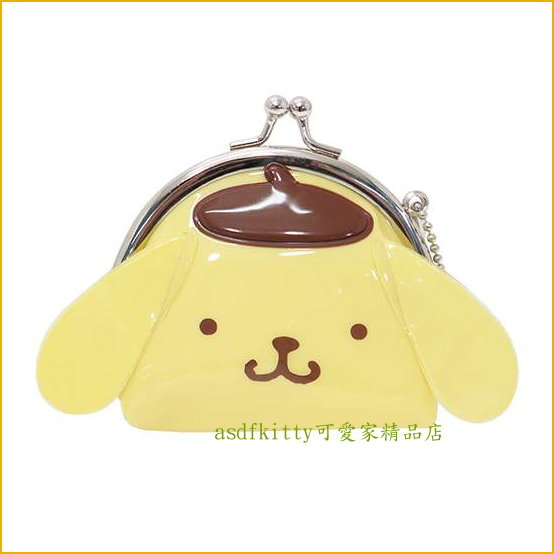 asdfkitty可愛家☆布丁狗臉型雙珠扣零錢包-防水材質-可當印章袋-日本正版商品