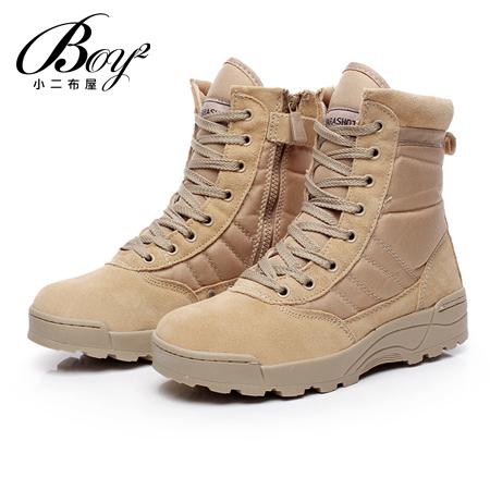 ☆BOY-2☆【JP99049】特種作戰軍靴 沙漠麂皮高筒靴