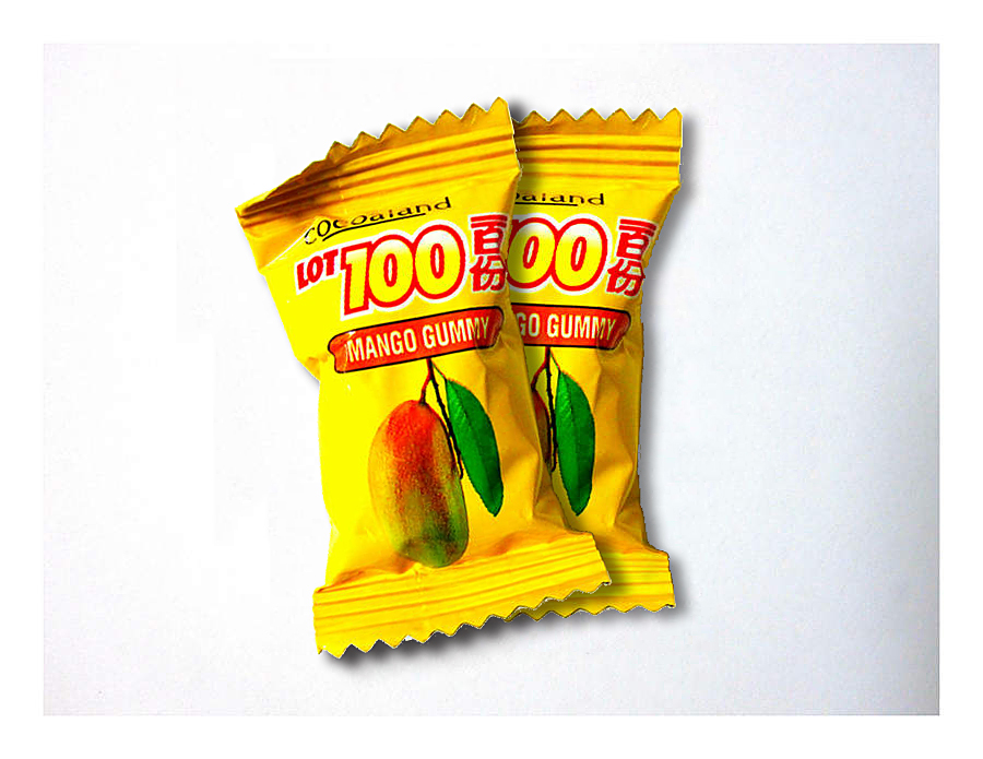 年貨大街 ‧散糖軟糖區‧ 馬來西亞一百份(100份)芒果QQ軟糖 300g(半斤)【合迷雅好物超級商城】