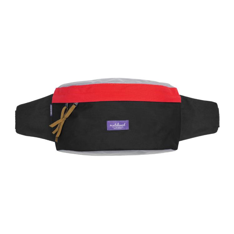 REMATCH - Matchwood Handy 腰包 黑紅色款 斜背包 側背包 隨身包 胸前包 單車運動 / 旅遊休閒隨身 / HEADPORTER / Herschel / Supreme 可參考