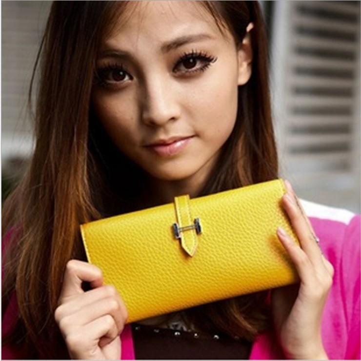 手拿包【心齋橋】女用新款時尚帶式扣環多卡位錢包/手拿包.