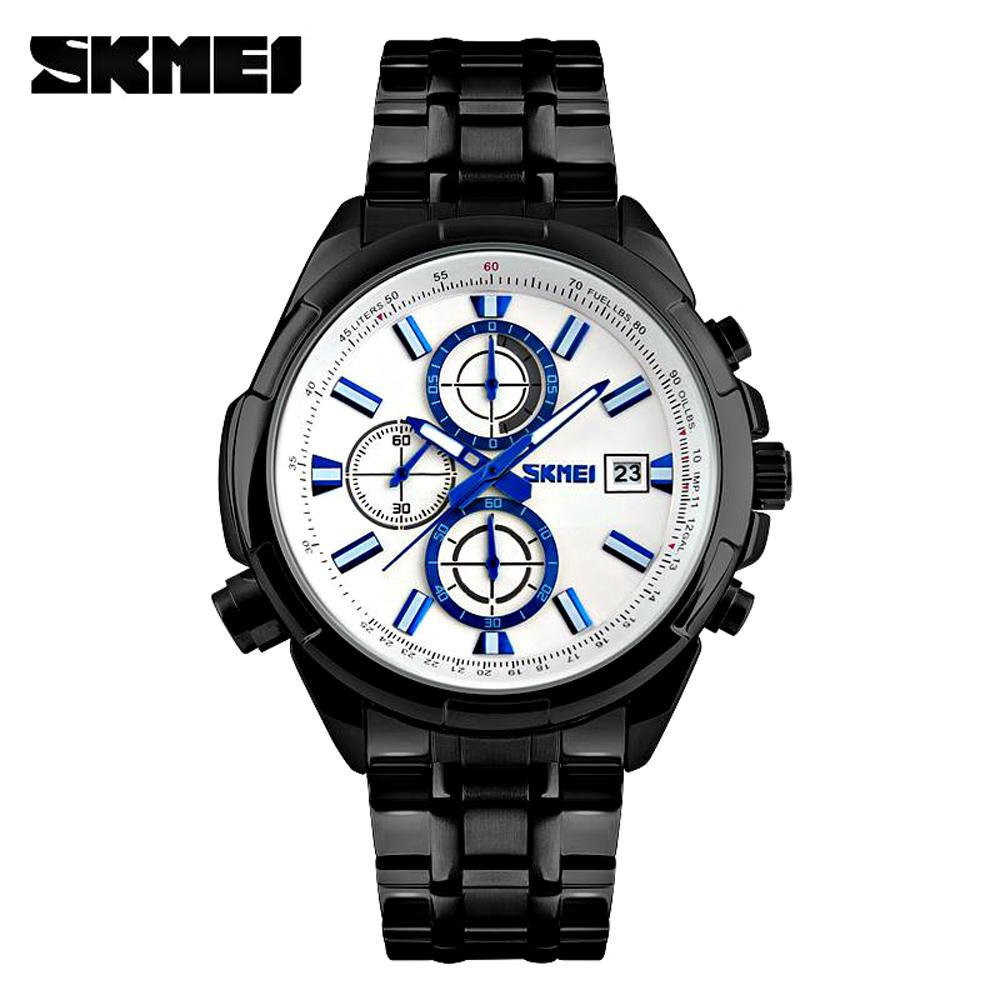 SKMEI 時刻美 9107-IP 時尚真三眼六針多功能運動石英男錶