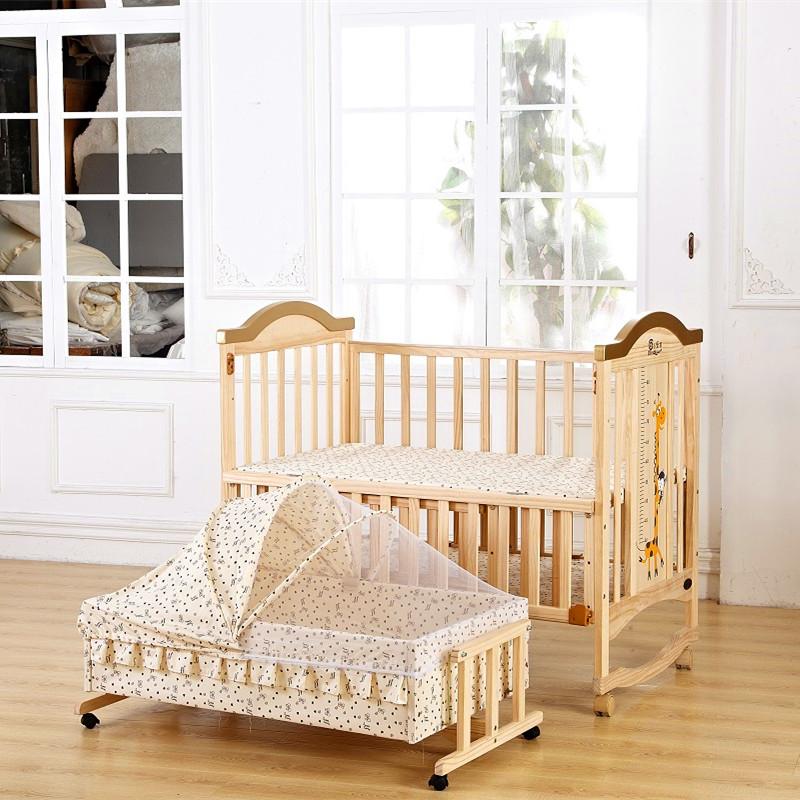 嬰兒床 實木嬰兒床 加大嬰兒床 搖籃 床圍 床護欄 遊戲床 可變書桌 搖床 附贈蚊 小床