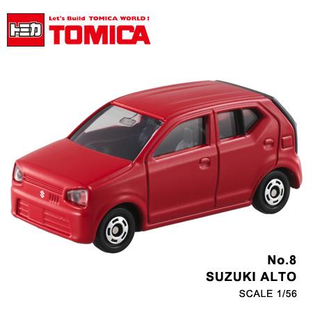 日貨 TOMICA No.8 SUZUKI ALTO 金鈴 掀背 真車系列 汽車模型 多美小汽車【N201322】