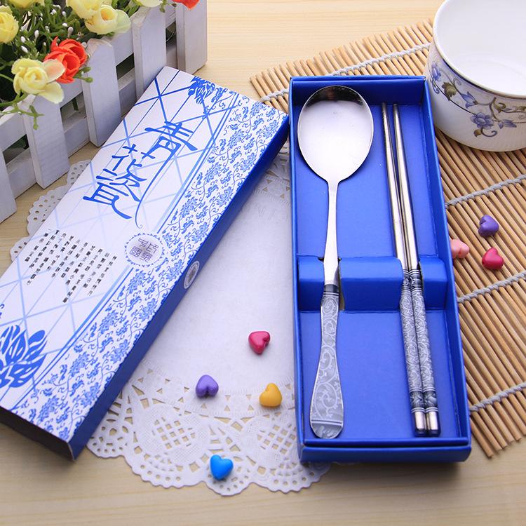 青花瓷環保餐具 / 不銹鋼餐具 / 婚禮小物39元【省錢博士】
