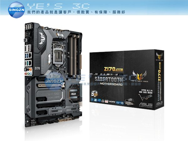 「YEs 3C」ASUS 華碩 SABERTOOTH Z170 MARK 1 主機板 1151腳位/DDR4