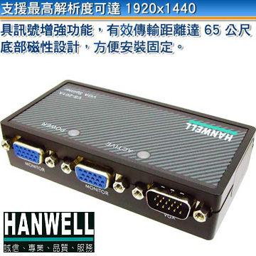 [良基電腦] HANWELL 捍衛科技 VS-201A 1對2 VGA 視訊同步分配器 [天天3C]