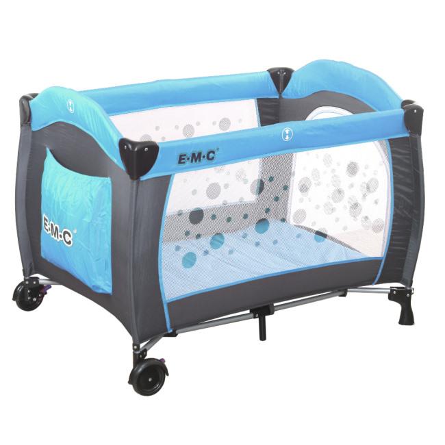 小崴Life親子館 EMC 嬰幼兒安全遊戲床 - 平安藍 (2501)