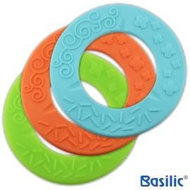 小崴Life親子館【貝喜力克 Basilic】嬰兒固齒器 - 波浪型 (D017) (固齒器、固齒玩具、牙齒咬環)