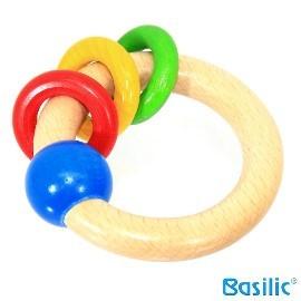 小崴Life親子館【貝喜力克 Basilic】木頭玩具-手搖環 (D116) 歐規EN-71法規檢驗合格 台灣製造