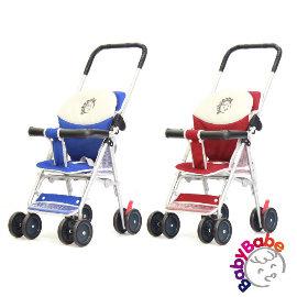 小崴Life親子館【BabyBabe】輕便型附睡墊手推車/機車椅-紅色(B503A) ▼贈雨罩
