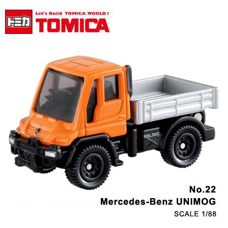 日貨 TOMICA No.22 Mercedes-Benz UNIMOG 賓士 真車系列 汽車模型 多美小汽車【N201642】