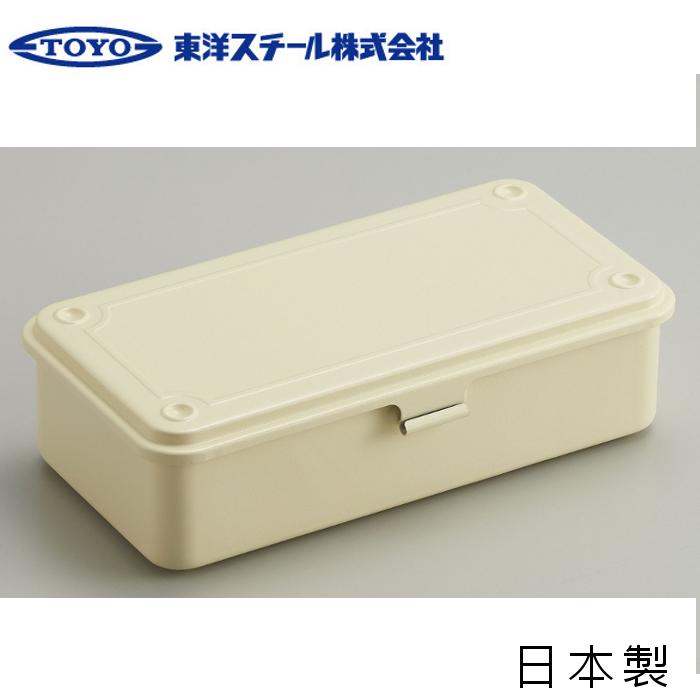 TOYO 方型工具箱/露營工具盒/小型收納盒 日本製 T-190 米白 台北山水