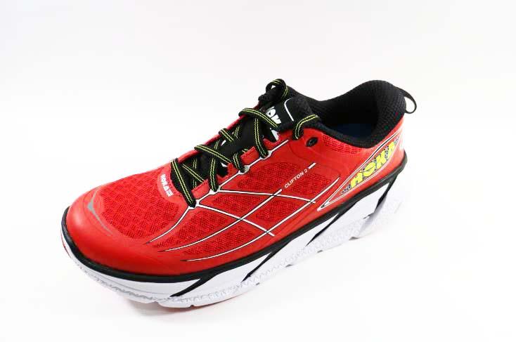 [陽光樂活]HOKA ONE ONE-CLIFTON 2  超緩震 動能 輕量 訓練 競速 路跑鞋-HO1008328PRWH  罌粟紅/白
