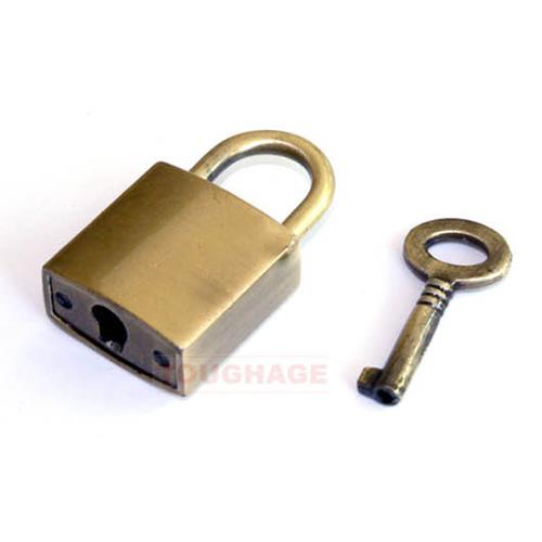 【亞娜絲情趣用品】SM道具-美國駭客 Toughage Nickel Plated Padlock 小巧鍍鎳鎖 (B728)