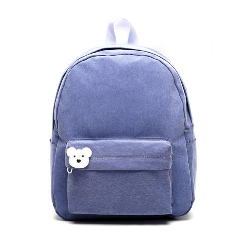 後背包 韓國品牌AFRICA RIKIKO 水洗布後背包 NO.126 블루바이올렛(Blue violet) - 包包阿者西