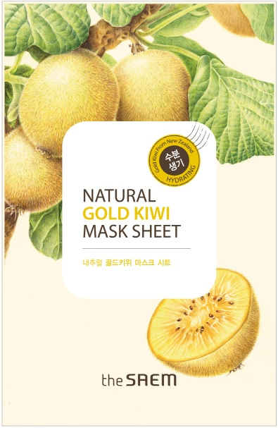 韓國the SAEM Natural 美顏奇異果面膜 21ml Natural Gold Kiwi Mask Sheet (New)【辰湘國際】