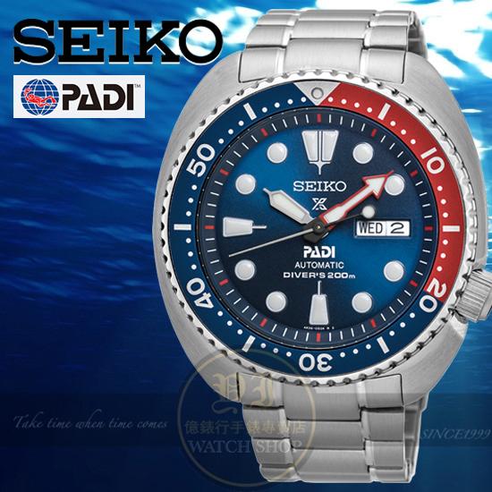 SEIKO日本精工PROSPEX系列PADI聯名深海時刻限量潛水機械腕錶4R36-05H0B/SRPA21J1公司貨