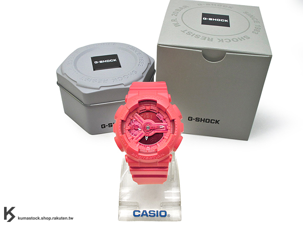 [10%OFF] kumastock 2016 最新 46mm 錶徑 貼合女性手腕曲線 CASIO G-SHOCK GMA-S110VC-4ADR BRIGHT VIVID COLOR 亮紅 S SERIES FOR LADIES 女孩專用 !