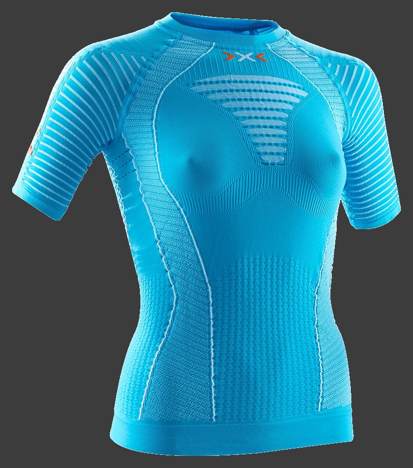 【7號公園自行車】X-BIONIC RUNNING LADY 機能女短衣(土耳其藍)