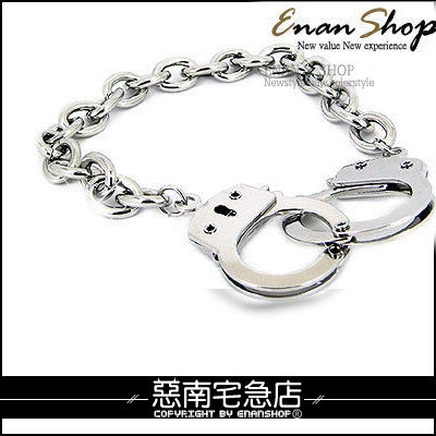 惡南宅急店【0064B】獨家首賣航空版『手銬造型手鍊』可當情侶對鍊。單條價