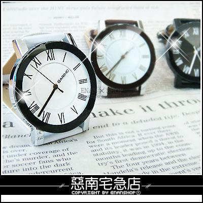 惡南宅急店【0093F】日韓系春夏潮流手錶『羅馬數字錶款』可當情侶對錶。單款區