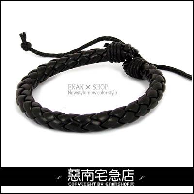 惡南宅急店【0197B】仿皮革繩『日系街頭款手環』可當情侶對鍊。單條區