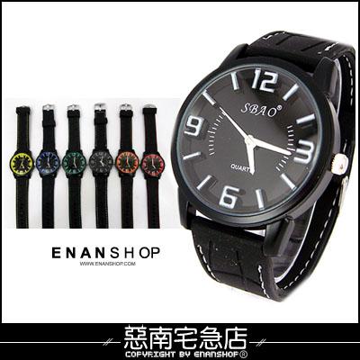 惡南宅急店【0378F】韓國空運?男錶女錶情侶對錶可『SBAO浮雕數字』手錶?單價