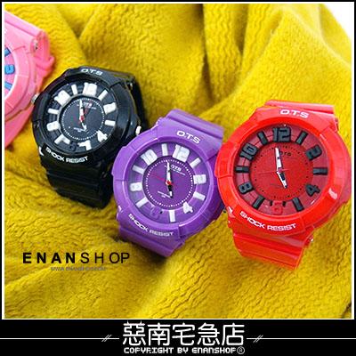 惡南宅急店【0379F】OTS?男錶女錶情侶對錶可『運動繽紛色』電子手錶?單價