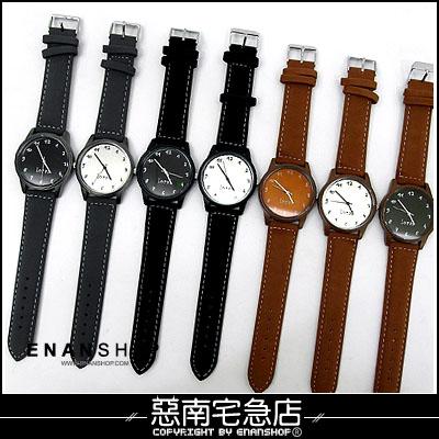 惡南宅急店【0380F】韓國空運?男錶女錶情侶對錶可『倫敦冬感』麂皮手錶?單價