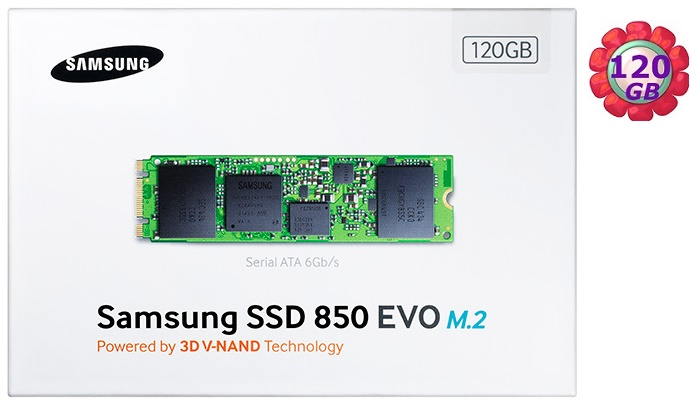 SAMSUNG SSD 850 EVO 【M.2】 120GB MZ-N5E120BW SATA III Internal Solid State Drive 內接式 筆電固態硬碟