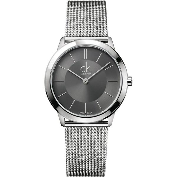 CK 經典系列(K3M22124)簡約風潮米蘭時尚腕錶/黑面35mm